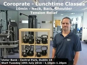 Dublin 18 Corporate Lunchtime classes in south Dublin Central Park Sandyford Instrial Estate Leopardtown